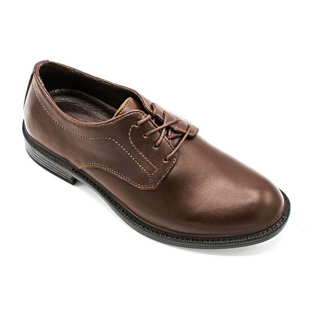 چرم طبیعی رسمی مردانه شیما کفش مدل آکسفورد 145 بندی