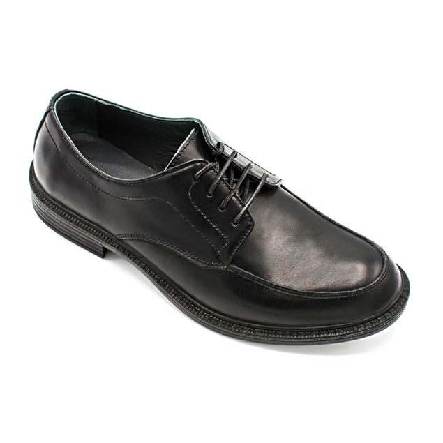 کفش چرم مردانه اکسفورد 147 (بندی) مشکی