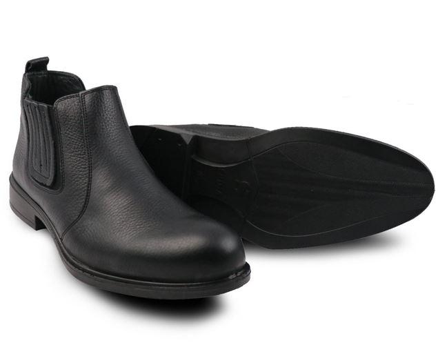نیم بوت چرم طبیعی مردانه شیما کفش فشن 835