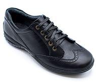 چرم طبیعی اسپورت مردانه شیما کفش بستون 603 مشکی