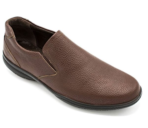 چرم طبیعی چاپی مردانه شیما کفش زایس 104 قهوه ای