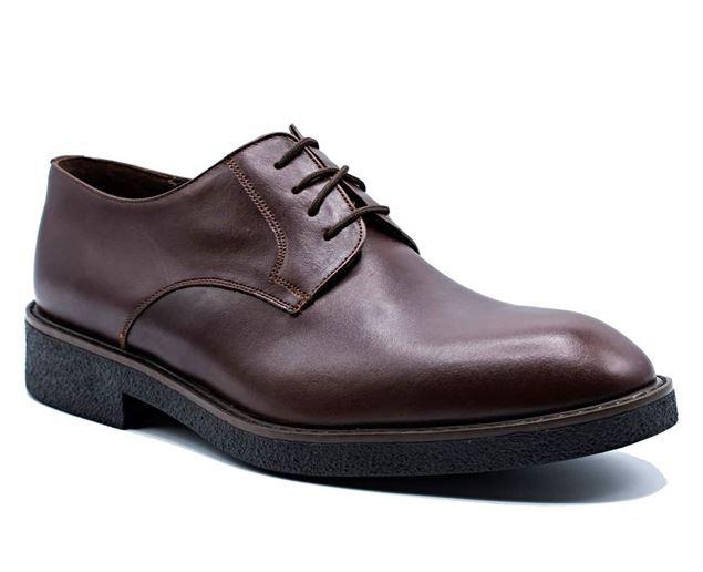 کفش چرم رسمی مردانه شیما کفش مدل آلبرت ملوانی بندی