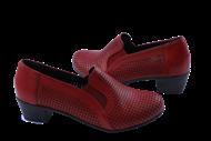 چرم پاشنه دار زنانه کاپری 356 قرمز