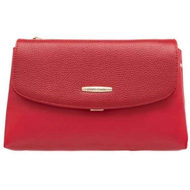 کیف دستی چرم زنانه شیما کفش 1481 قرمز