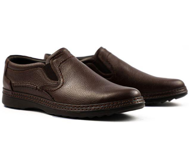 کفش چرم طبیعی رسمی مردانه شیما کفش داکرز 305 قهوه ای