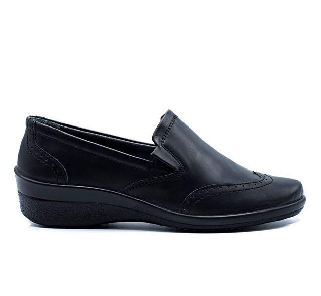 کفش اداری چرم طبیعی زنانه شیما کفش رزمین 511 مشکی