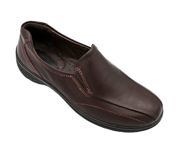 چرم طبیعی زنانه شیما کفش کژوال 445 قهوه ای